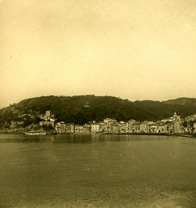 Italy Liguria Riviera Lerici San Terenzo Panorama Old NPG Stereo Photo 1900