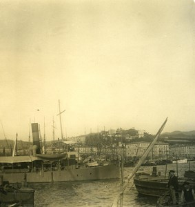 Italy Liguria Riviera La Spezia Harbour Old NPG Stereo Photo 1900