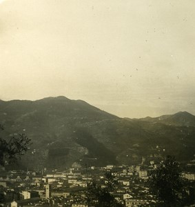 Italy Liguria Riviera La Spezia Panorama Old NPG Stereo Photo 1900