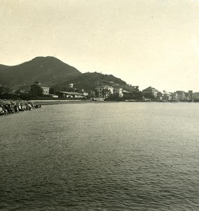 Italy Liguria Riviera Sestri Levante Panorama Old NPG Stereo Photo 1900