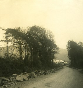 Italy Liguria Riviera Chiavari Lavagna Road Old NPG Stereo Photo 1900