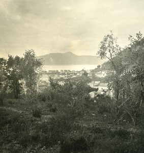 Italy Liguria Riviera Chiavari Panorama Old NPG Stereo Photo 1900