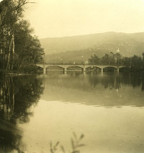 Italy Liguria Riviera Chiavari Entella River Bridge Old NPG Stereo Photo 1900