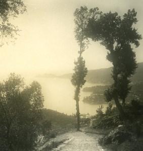 Italy Liguria Riviera Rapallo Montallegro Road Old NPG Stereo Photo 1900