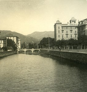 Italy Liguria Riviera Rapallo Boate River Old NPG Stereo Photo 1900