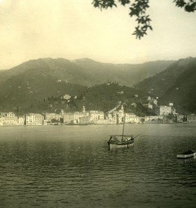 Italy Liguria Riviera Rapallo Panorama Old NPG Stereo Photo 1900