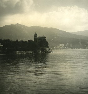 Italy Liguria Riviera Rapallo Villa Lagomaggiore Old NPG Stereo Photo 1900