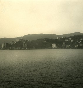 Italy Liguria Riviera Rapallo Kursaal Panorama Old NPG Stereo Photo 1900