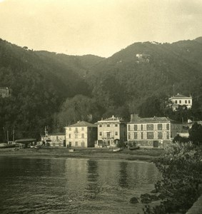 Italy Liguria Riviera Portofino Paraggi Old NPG Stereo Photo 1900