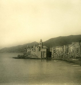 Italy Liguria Riviera Panorama Place Old NPG Stereo Photo 1900