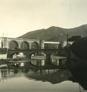 Italy Liguria Riviera Recco Bridge Old NPG Stereo Photo 1900