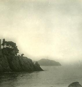 Italy Liguria Riviera Genoa Nervi Castle Old NPG Stereo Photo 1900