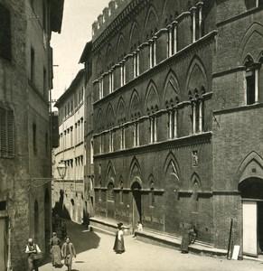 Italy Tuscani Siena Palace Bonsignori Old NPG Stereo Photo 1900