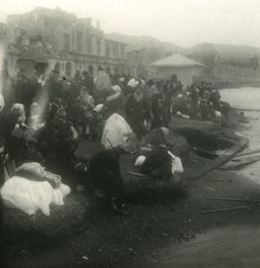 Italy Sicily Messina Earthquake Refugies Old NPG Stereo Photo 1908