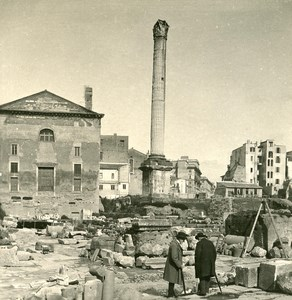 Italy Roma Foro Romano Old NPG Stereo Photo 1900