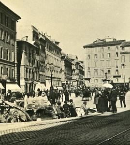 Italy Roma Piazza di Spagna Old NPG Stereo Photo 1900