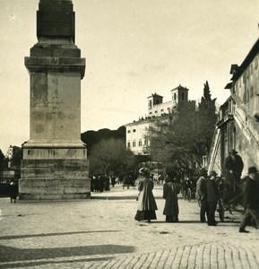 Italy Roma Trinita de Monti Old NPG Stereo Photo 1900