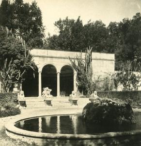 Italy Roma Villa Borghese Garden Old NPG Stereo Photo 1900
