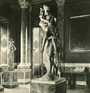 Italy Roma Villa Borghese Interior Old NPG Stereo Photo 1900