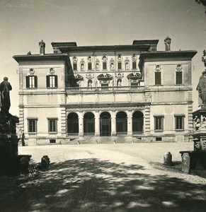 Italy Roma Villa Borghese Gardens Detail Old NPG Stereo Photo 1900