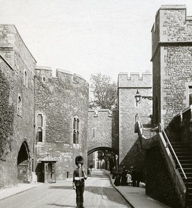 United Kingdom London Tower of London Detail Old Rotary Stereo Photo 1900