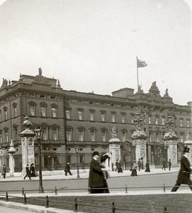 United Kingdom London Buckingham Palace Facade Old Rotary Stereo Photo 1900