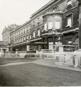 United Kingdom London Buckingham Palace West Front Old Rotary Stereo Photo 1900