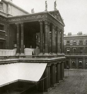 United Kingdom London Buckingham Palace Quadrangle Old Rotary Stereo Photo 1900