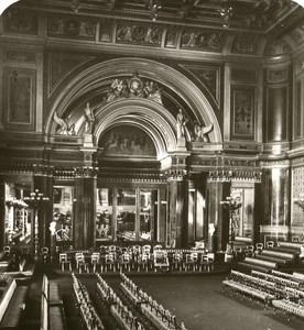 United Kingdom London Buckingham Palace Concert Old Rotary Stereo Photo 1900