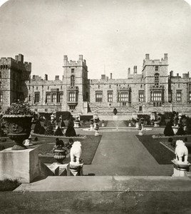 United Kingdom Windsor Castle Panorama Old Rotary Stereo Photo 1900