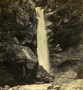 France Alps Savoy Dard Falls Old Stereo Photo Adolphe Braun 1865