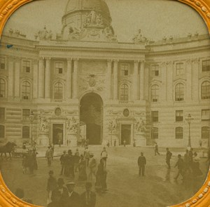 Austria Wien Gate of the Castle old Stereo Tissue Photo 1865