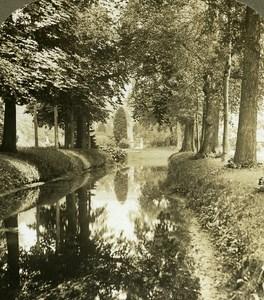 Germany Potsdam Garden of Sans Souci Castle old Stereo Photo 1900
