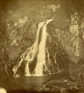 Austria Danube Golling Waterfall old Stereo Photo 1890