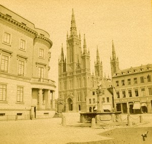 Germany Wiesbaden Castle Duke of Nassau old Stereo Photo 1890