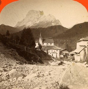 Austro-Hungarian Empire San Vito di Caolore Stereo Photo Unterberger 1890
