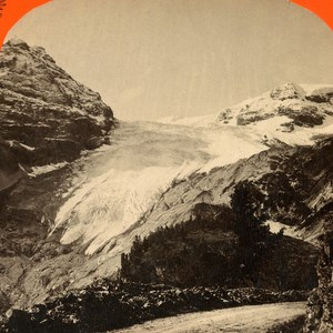Austro-Hungarian Empire Madatsch-Gletscher Glacier Stereo Photo Unterberger 1890