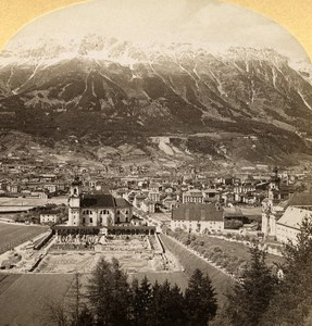 Austro-Hungarian Empire Tirol Innsbruck old Stereo Photo Gratl 1890