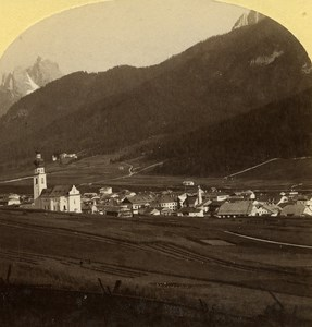 Austro-Hungarian Empire val Pusteria Pustertal old Stereo Photo Gratl 1890