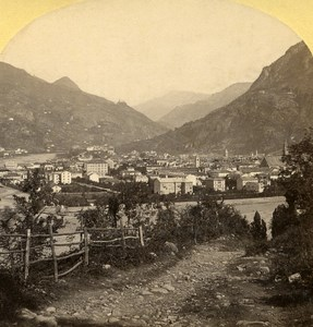 Italy Bolzano Brenner Road old Stereo Photo Gratl 1890