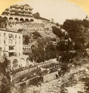 Italy Meran Merano Gilfpromenade old Stereo Photo Gratl 1890