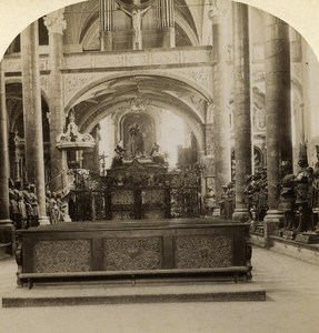 Austro-Hungarian Empire Tirol Innsbruck Church old Stereo Photo Gratl 1890