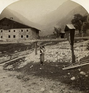 Austro-Hungarian Empire Tirol Pflerschthal old Stereo Photo Gratl 1890