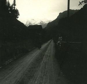 Switzerland Lake Thun Kienthal Road old Possemiers Stereo Photo 1920