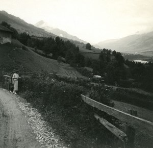 Switzerland Lake Thun Reichenbach old Possemiers Stereo Photo 1920