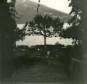 Switzerland Lake Thun Spiez old Possemiers Stereo Photo 1920