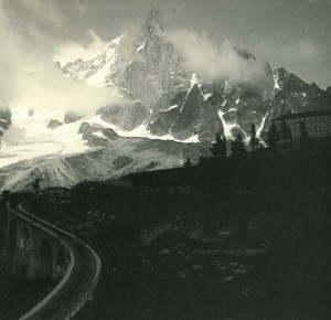 France Haute Savoie Chamonix Mont Blanc old Possemiers Stereo Photo 1920