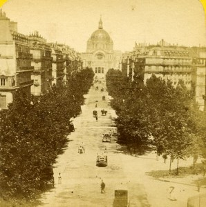 France Paris Boulevard Malesherbes old Stereo Photo Block 1865