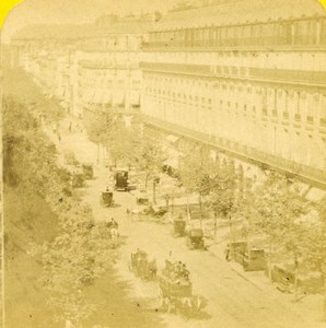 France Paris the Grand Hotel old Stereo Photo Block 1865