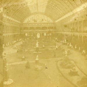 France Paris Interior Palace of Industry old Stereo Photo 1865